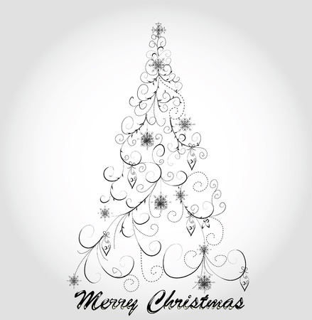 Graphic elegant Christmas tree Stock Vector - 8345647