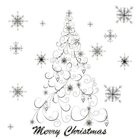 folkart: christmas tree
