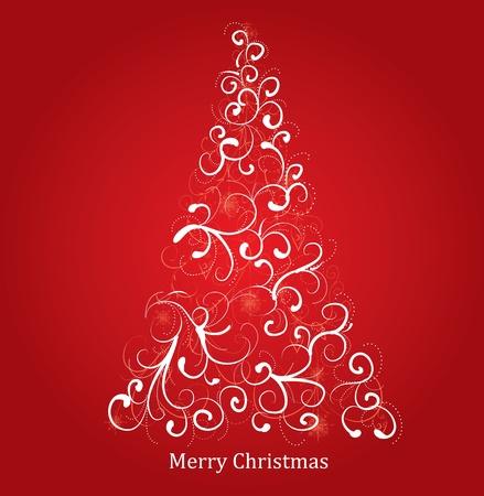 merrily: albero di Natale stilizzato  Vettoriali