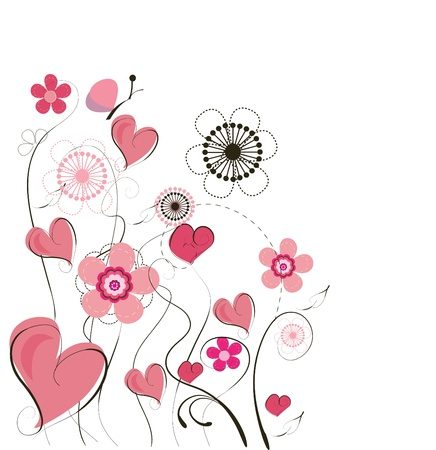 Cute vector valentine background  Stock Vector - 8985804