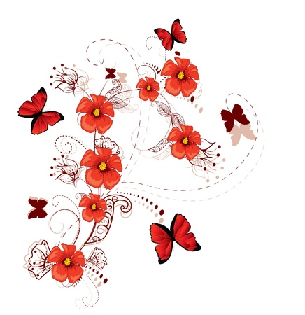 romantic floral background  Vector