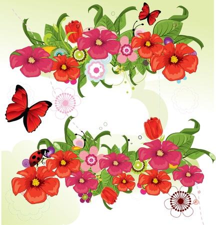 Beautiful flowers Vektoros illusztráció