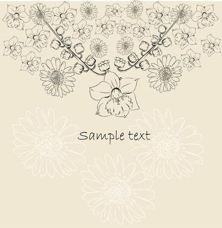 Decorative flower background  Vector