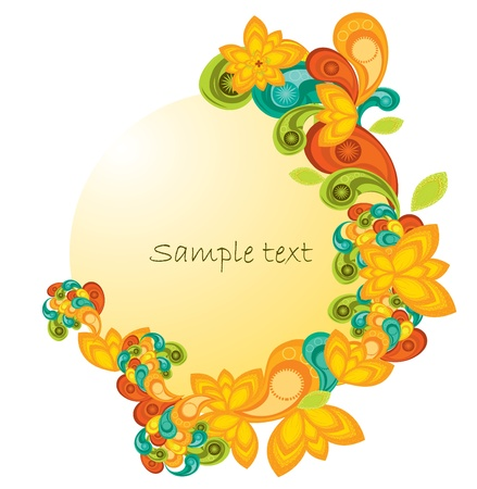 Banner with paisley Stock Vector - 8985993