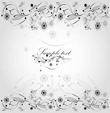 floral background, greeting card Stock Vector - 9370999