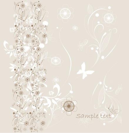 Beautiful floral background  Stock Vector - 9371005