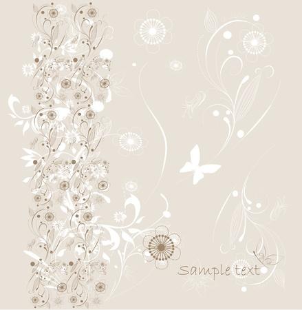 Beautiful floral background  Illustration