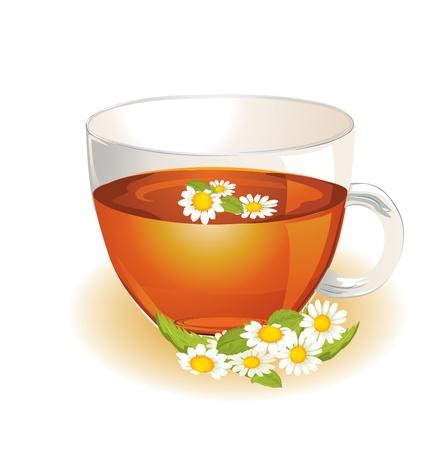 kamille: Tasse hei�en herbal Kamille