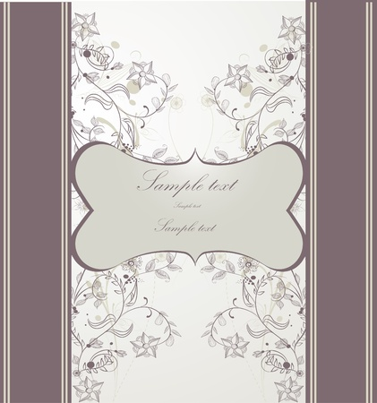Floral greeting card  Ilustrace