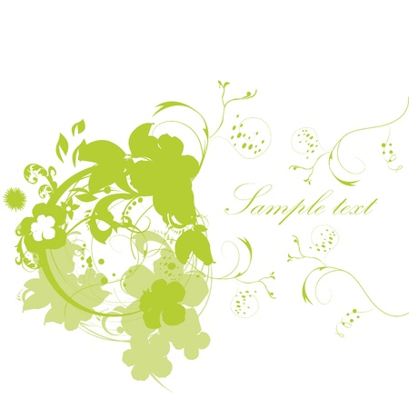 Beautiful abstract floral background Stock Vector - 10718523