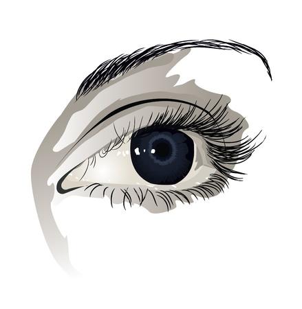 regard: Femme oeil