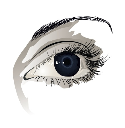 glance: Woman eye Illustration