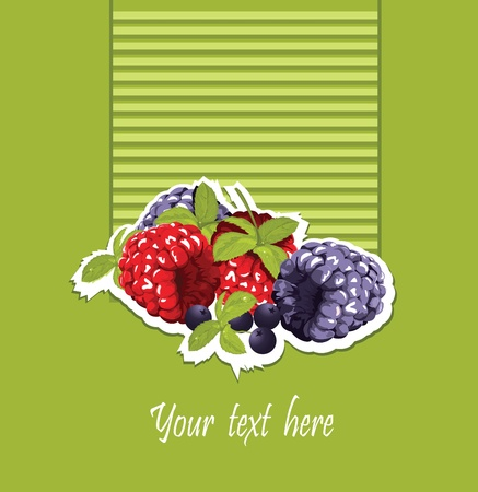 pasteurized: raspberry and blackberry card