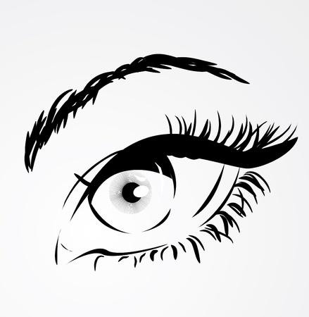 Woman eye Stock Vector - 10718422