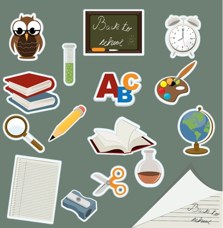 book mark: back to school icon set  Illustration