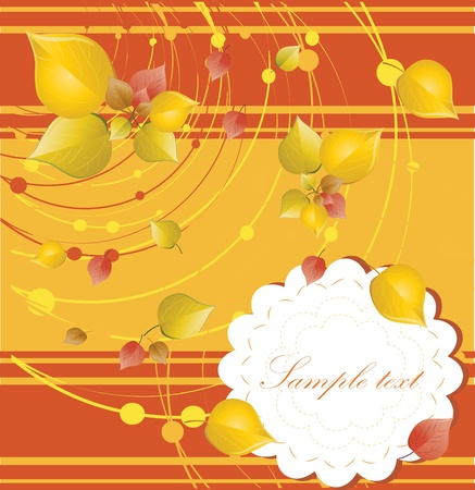 elegant autumn background with place for your text Stock Vector - 10718636