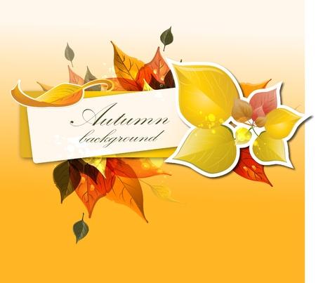 autumnal background  Vector