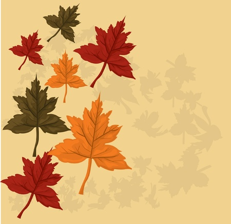 Autumn background  Stock Vector - 10718623