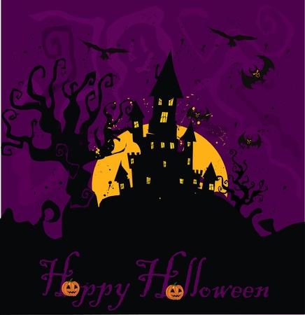 spooky house: Haunted House Halloween  Illustration