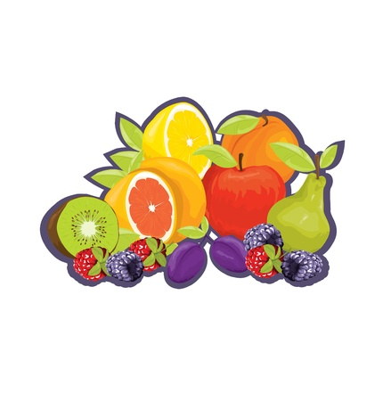 fruit tag Stock Vector - 10718669