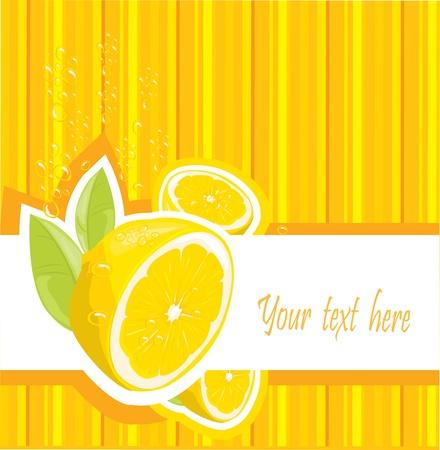 Fresh lemon menu Vector