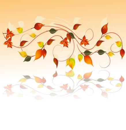 Autumn wallpaper, vector illustration  Vector