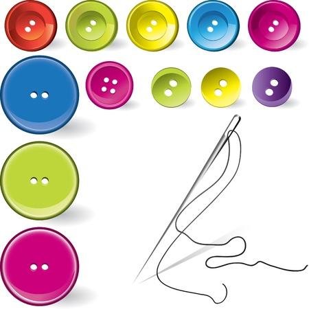 Sammlung von verschiedenen Näh-Taste und needdle