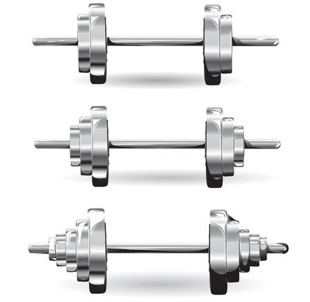 barbell: set of weights.vector illustration Illustration