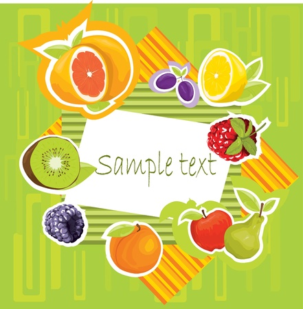fruit background Stock Vector - 10718611