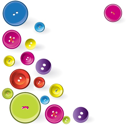 Multicolored Sewing Items. Vector