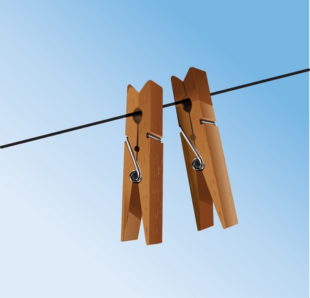 clothes peg: cloth pegs with a under the sky