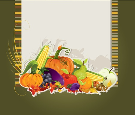 vegetable cook: harvest card