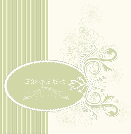 Template frame design for greeting card . Vector illustration  Vector