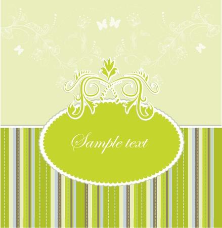 Plantilla de diseño de marco para la tarjeta de felicitación. Ilustración vectorial