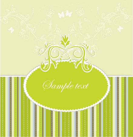 Template frame design for greeting card . Vector illustration Vector