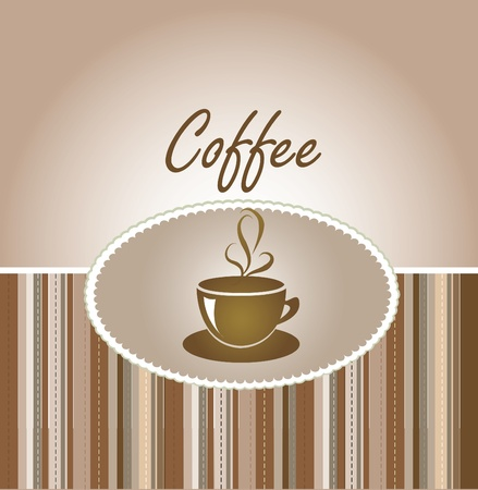 coffee greeting card  Vector