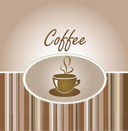 steaming: coffee greeting card