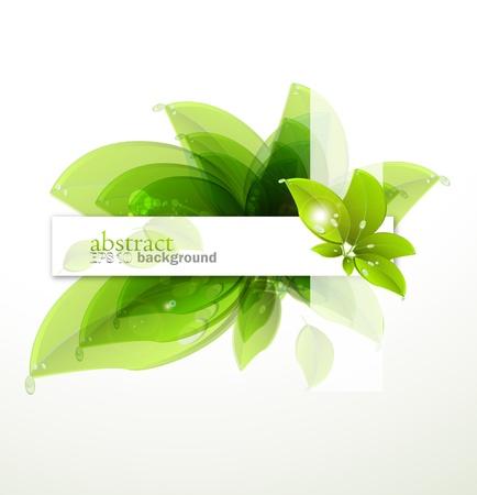 achtergrond met groene bladeren Stock Illustratie