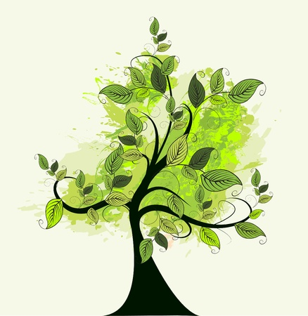 abstract green tree Stock Vector - 10722557