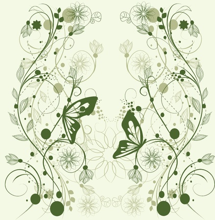 floral background, greeting card Stock Vector - 10718625