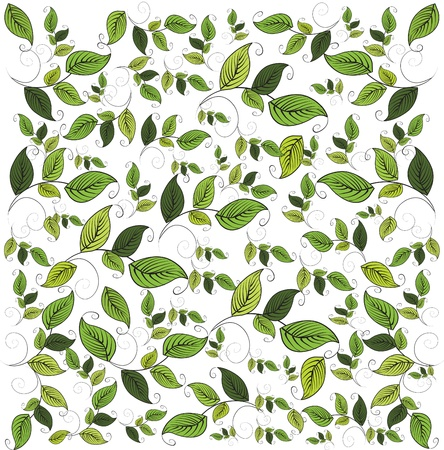 foliage  natural: Flower seamless pattern with leaf, element for design, vector illustration