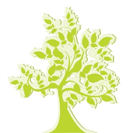 grünen stilisierten Baum