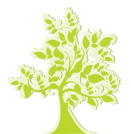 sauce: �rbol estilizado verde