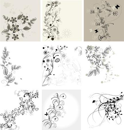 花の背景のセット