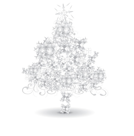 blizzard: Paper snowflaks Christmas tree