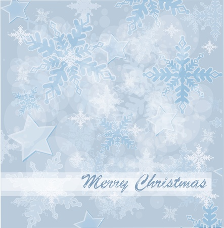 snoflake: Abstract Christmas card with white snowflakes