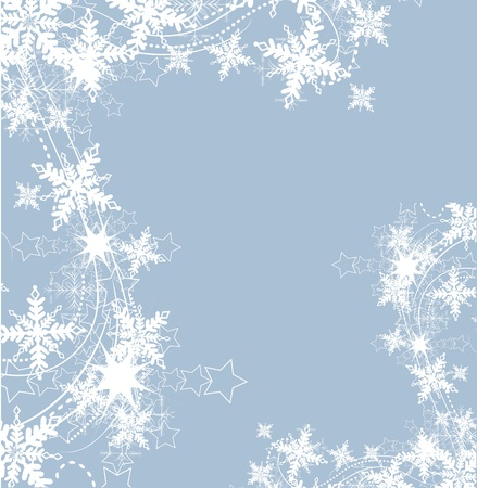 snowflakes background Stock Vector - 10999787
