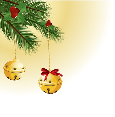 jingle: Christmas bells with red ribbon Illustration