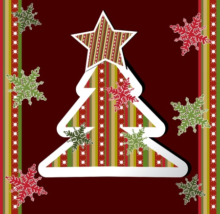 christmas card. vector  Vector