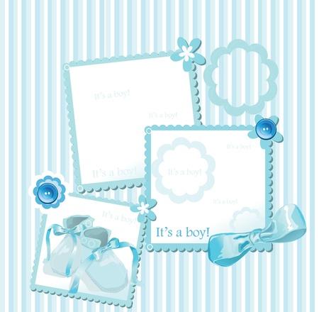 ベビー シャワーのグリーティング カード  イラスト・ベクター素材
